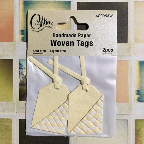 Craftime Woven Tags Cream